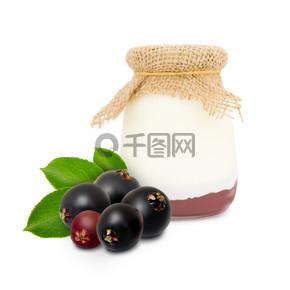 接骨木浆果酸奶