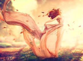 秋季梦幻般的女孩