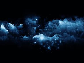 三个三维分形云