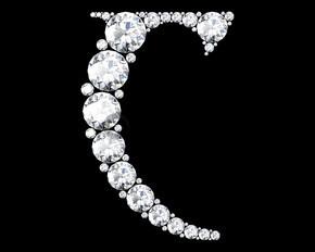 从 C 字母钻石字母