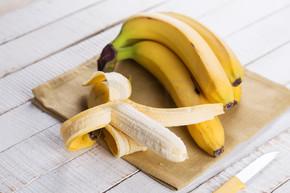 在毛巾上的香蕉