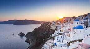 美丽的城市希腊圣托里尼