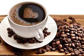 咖啡杯和碟白色背景上.