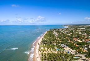 巴西巴伊亚州北部海岸线