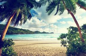日落海滩、 马埃岛、 塞舌尔