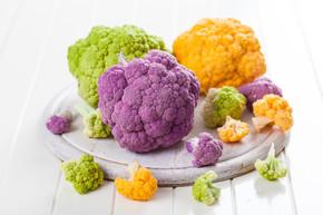 各种各样的有机花菜