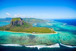 毛里求斯岛鸟瞰图