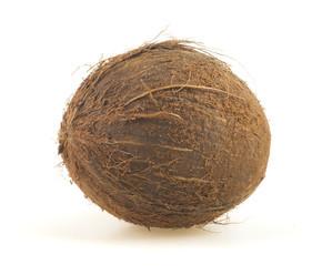 孤立在白色的椰子.