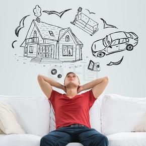 抵押贷款和信贷的概念.