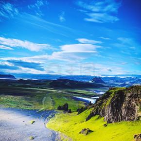 冰岛的自然美丽山水风景.