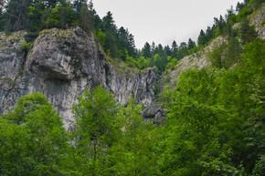 美丽的山峡谷。自然之美.