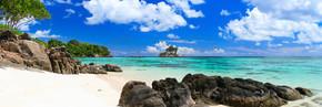 完美的海滩在塞舌尔