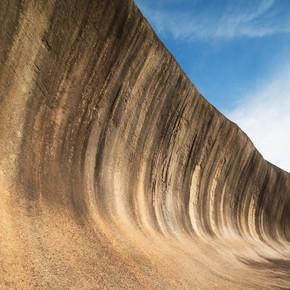 在西澳大利亚的波浪岩