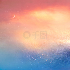 Colorful romantic sky background