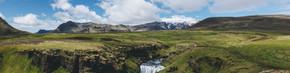 冰岛美丽 Skoga 河流景观全景