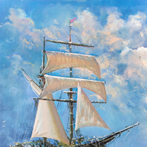 绘图是船的帆,画下