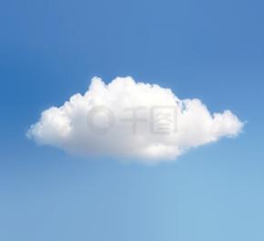 云和蓝色的天空