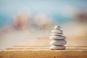 禅宗石头背景白色和黑色