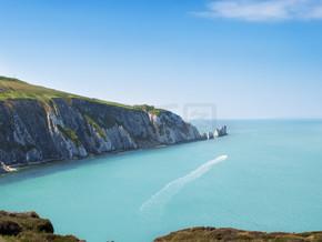 针头岩石形成在怀特岛与英国