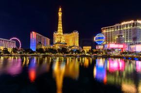 夜间照明、 赌场,拉斯维加斯地带,内华达州,美国