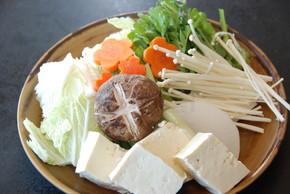 韩亚日本餐厅涮涮锅的蔬菜