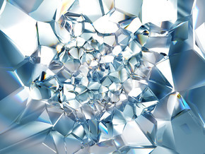 抽象时尚清晰璀璨的水晶背景