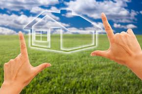 手在草领域构筑的房子