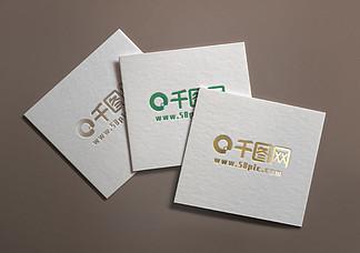 纸质logo样机素材智能贴图模版效果图