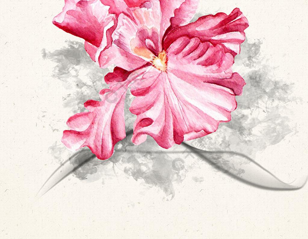 中国风花鸟水墨线条装饰画