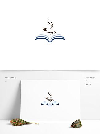 简约书咖店logo