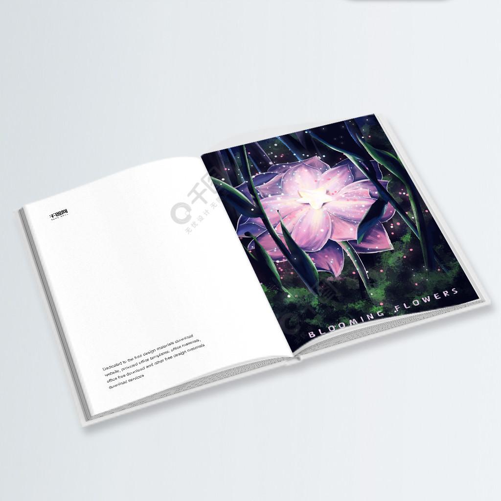 萤灵之光之掉落在花朵中的星星治愈插画