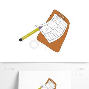 创意手绘文件夹元素