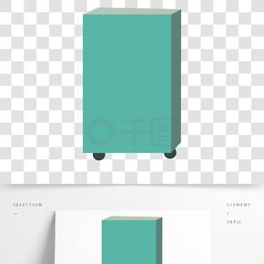 简约手绘行李箱透明素材