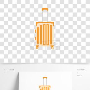 卡通简约行李箱装饰素材