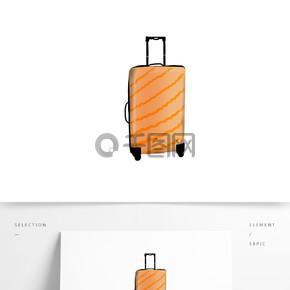 手绘行李箱元素设计