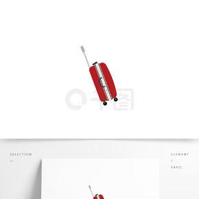懒人图库元素单个素材创意红色行李箱