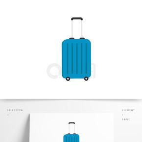 矢量元素行李箱卡通元素