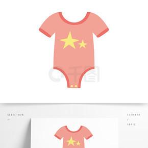 原创婴儿衣服卡通插画
