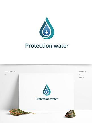 呼吁保护水资源logo