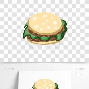 汉堡面包元素免扣矢量Png素材