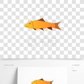 卡通鱼素材矢量图