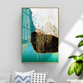 现代抽象金色鎏金装饰画