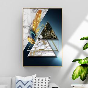 现代抽象金箔大理石3D立体装饰画