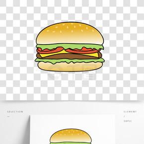 手绘卡通设计元素汉堡