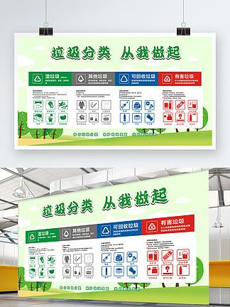垃圾分类卫生展板
