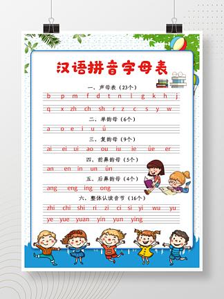 汉语拼音字母表海报