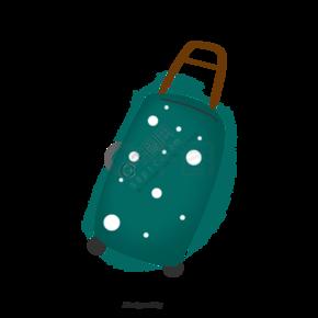 卡通拉杆行李箱插画