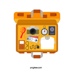 黄色创意打开行李箱