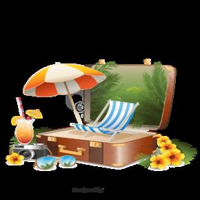夏日沙滩物体