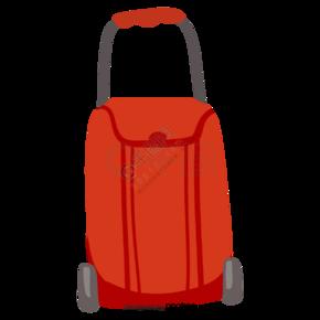 卡通红色的行李箱